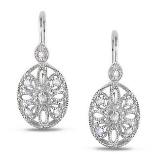 Miadora 14k White Gold 1/8ct TDW Diamond Earrings (G H, I1 I2
