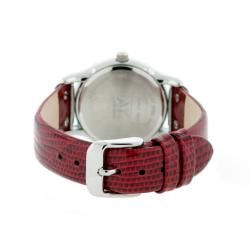 Anne Klein Red Leather Strap Watch