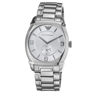 Emporio Armani Mens Classic Stainless Steel Quartz Watch