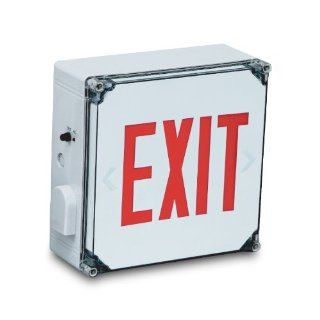 EXIT sign White Case/Housing RED letters Battery backup