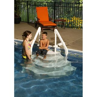 Swim Time Above Ground Grand Entrance Step Pool Ladder